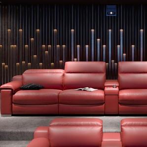 Kinositze MACELLO 4-Sitzer in Leder