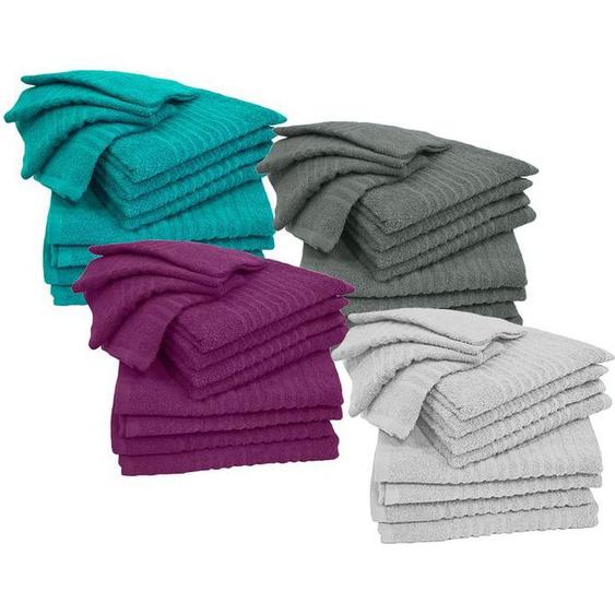 Kinzler Handtuch-Set 12teilig, Frottierset: Duschtuch, Handtuch, Gästetuch, aus Baumwolle