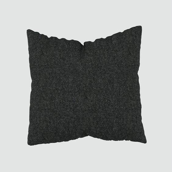 Kissen - Anthrazit, 50x50cm - Wolle, individuell konfigurierbar