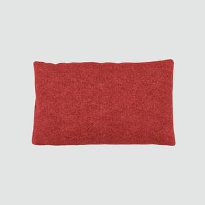 Kissen - Blutorange, 30x50cm - Melierte Wolle, individuell konfigurierbar