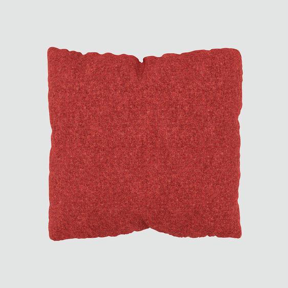 Kissen - Blutorange, 40x40cm - Melierte Wolle, individuell konfigurierbar