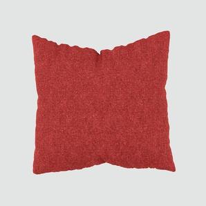 Kissen - Blutorange, 50x50cm - Melierte Wolle, individuell konfigurierbar