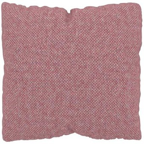 Kissen - Bonbonrosa, 40x40cm - Melierte Wolle, individuell konfigurierbar