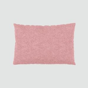 Kissen - Bonbonrosa, 40x60cm - Melierte Wolle, individuell konfigurierbar