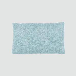 Kissen - Eisblau, 30x50cm - Melierte Wolle, individuell konfigurierbar