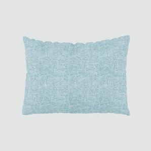 Kissen - Eisblau, 48x65cm - Melierte Wolle, individuell konfigurierbar