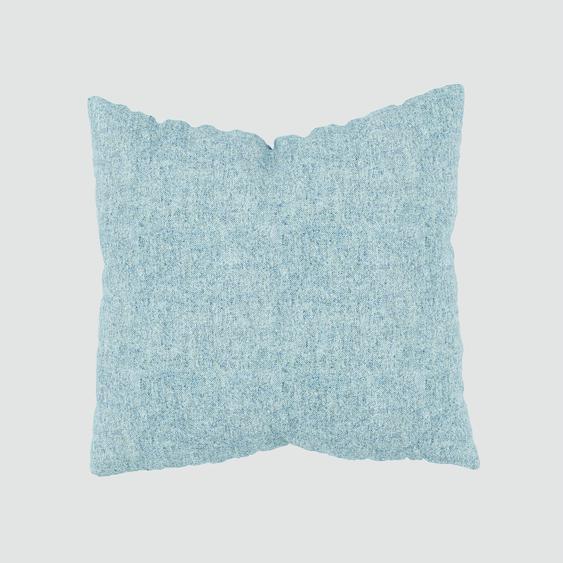 Kissen - Eisblau, 50x50cm - Melierte Wolle, individuell konfigurierbar