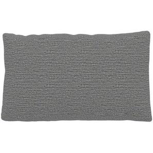 Kissen - Granitweiß, 30x50cm - Strukturgewebe, individuell konfigurierbar