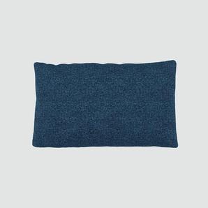 Kissen - Jeansblau, 30x50cm - Melierte Wolle, individuell konfigurierbar