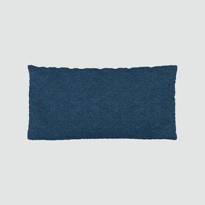 Kissen - Jeansblau, 40x80cm - Melierte Wolle, individuell konfigurierbar