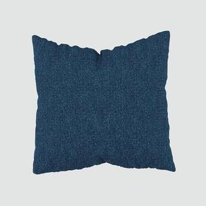 Kissen - Jeansblau, 50x50cm - Melierte Wolle, individuell konfigurierbar
