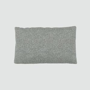 Kissen - Kiesgrau, 30x50cm - Wolle, individuell konfigurierbar