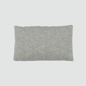 Kissen - Lichtgrau, 30x50cm - Wolle, individuell konfigurierbar