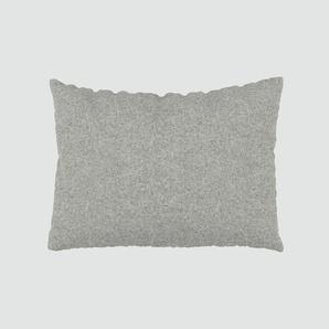 Kissen - Lichtgrau, 48x65cm - Wolle, individuell konfigurierbar