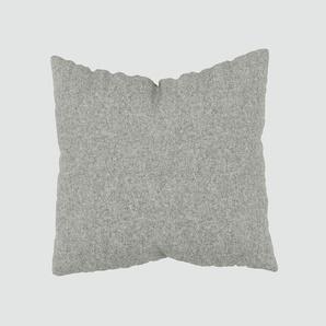Kissen - Lichtgrau, 50x50cm - Wolle, individuell konfigurierbar