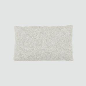 Kissen - Naturweiß, 30x50cm - Wolle, individuell konfigurierbar