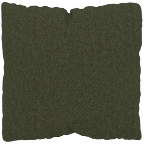 Kissen - Olivgrün, 40x40cm - Wolle, individuell konfigurierbar