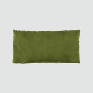 Kissen - Olivgrün, 40x80cm - Samt, individuell konfigurierbar