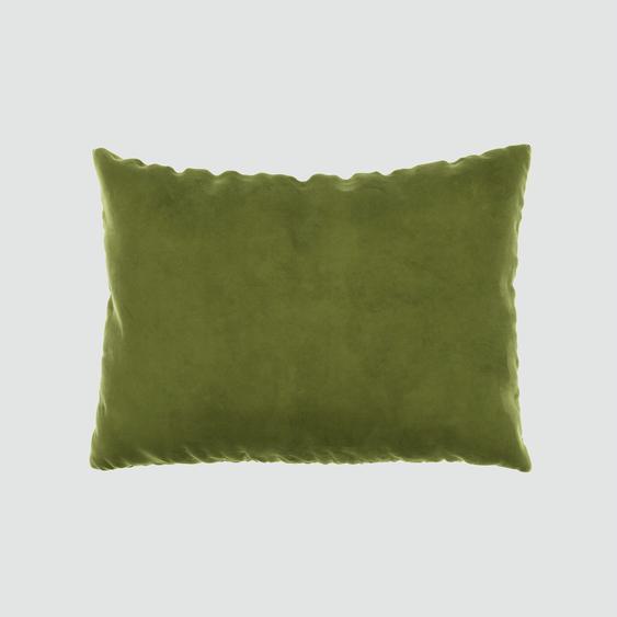 Kissen - Olivgrün, 48x65cm - Samt, individuell konfigurierbar