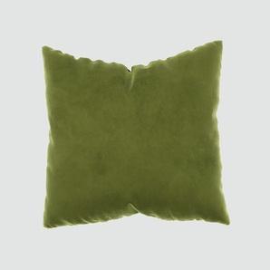 Kissen - Olivgrün, 50x50cm - Samt, individuell konfigurierbar