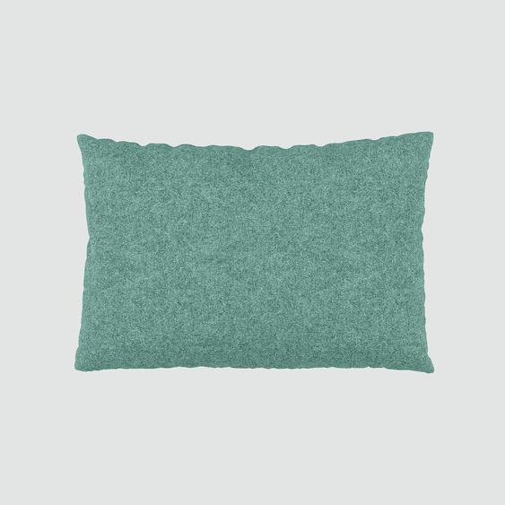 Kissen - Ozeanblau, 40x60cm - Vegane Wolle, individuell konfigurierbar