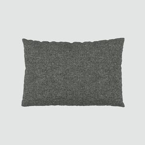 Kissen - Steingrau, 40x60cm - Wolle, individuell konfigurierbar
