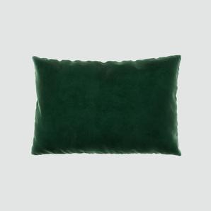 Kissen - Tannengrün, 40x60cm - Samt, individuell konfigurierbar