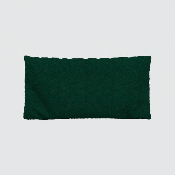 Kissen - Tannengrün, 40x80cm - Wolle, individuell konfigurierbar