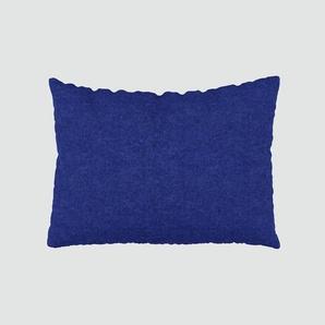 Kissen - Tintenblau, 48x65cm - Wolle, individuell konfigurierbar