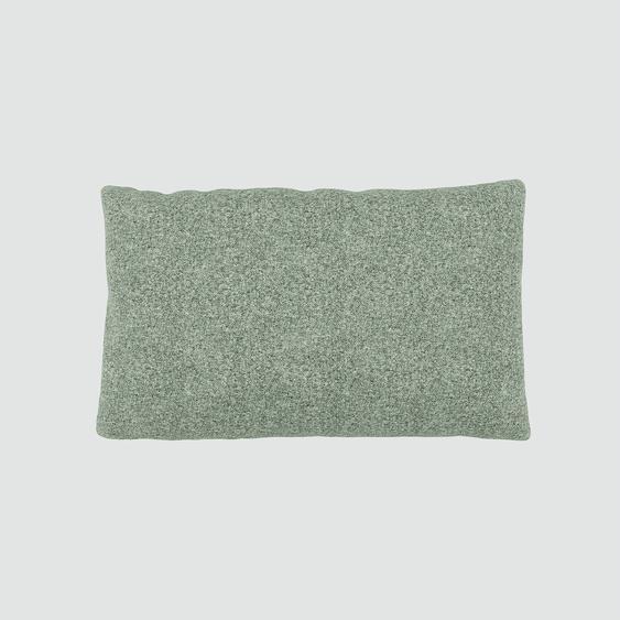 Kissen - Zementgrau, 30x50cm - Melierte Wolle, individuell konfigurierbar