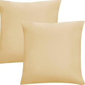 Kissenbezüge »Oliver«, Biberna (2 Stück), Jersey (1 Pack mit 2 Stück), dichte, feinfädige Single-Qualität