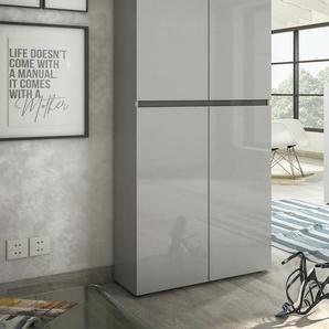 KITALY Schuhschrank Mister, Breite 80 cm, Höhe 200 4 Türen TOPSELLER B/H/T: cm x 34 grau Schuhschränke Garderoben Nachhaltige Möbel