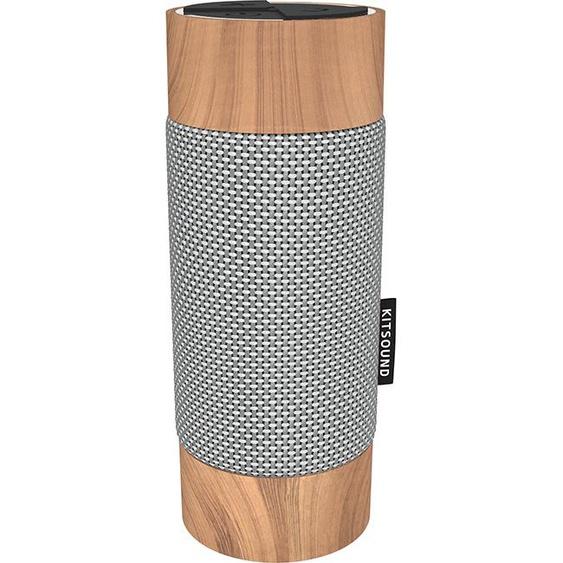 Kitsound Diggit Bluetooth Outdoor Speaker Silver/Wood