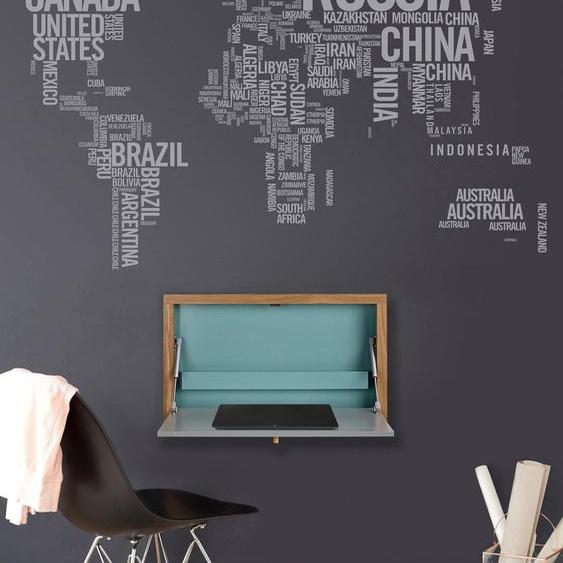 Klapp-Tisch »Brenta«, FSC®-zertifiziert, Woodman, mehrfarbig, Material Eiche, Stahl, Holzwerkstoff, Melamin
