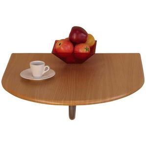 Klapp Wandtisch in Buche halbrund