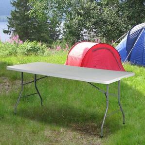 Klappbarer Campingtisch Fairport aus Kunststoff und Metall