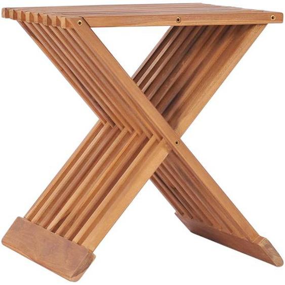 Klappbarer Hocker 40×32×45 cm Massivholz Teak