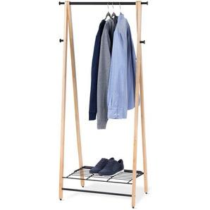 Klappbarer Massivholz-Kleiderständer - schwarz - Massivholz -
