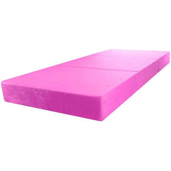 Klappmatratze Faltmatratze Gästematratze Reisematratze 195x80x15 Pink