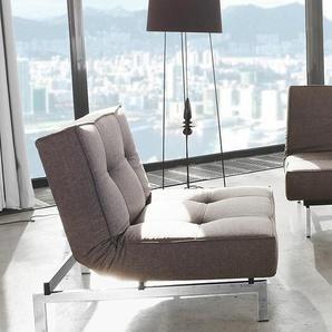 Klappsessel Splitback Innovation Living grau, Designer Per Weiss, 79x90x90 cm