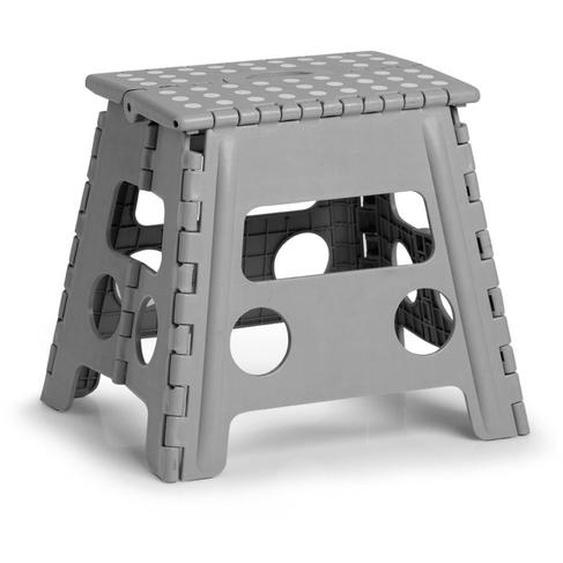 Klappstuhl, grau, Material Kunststoff, Zeller Present