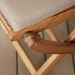 Klappstuhl - naturfarben - Massivholz -