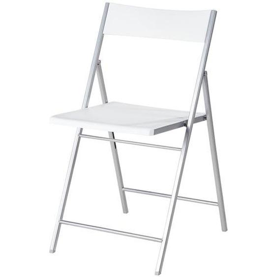 Klappstuhl | weiß | 43 cm | 76,5 cm | 45 cm |