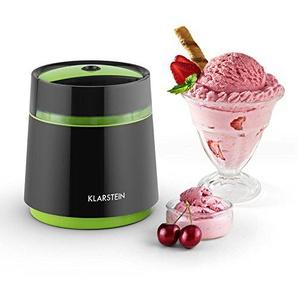 Klarstein Bacio Nero • Eismaschine • Speiseeismaschine • Eisbereiter • Frozen Yogurt • 7 Watt • 0,8 Liter Fassungsvermögen • doppelwandiger Thermobehälter • 30 min Rührdauer • niedriges Betriebsgeräusch • einfache Reinigung • inkl. Rezeptvorschläge •