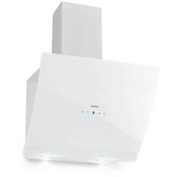 Klarstein Dunstabzugshaube Glas 650 m3/h Touch-Armatur weiß »Annabelle 60«