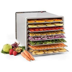 Klarstein Fruit Jerky Pro 8 • Dörrgerät • Dörrautomat • 630 Watt • 8 Etagen • einstellbare Temperatur • 0,86 m² Trockenfläche • Edelstahl-Gehäuse • einfache Reinigung • silber