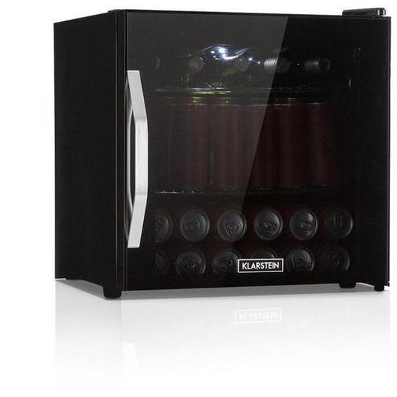 Klarstein Getränkekühlschrank A+ LED Metallroste Glastür schwarz »Beersafe L Onyx«