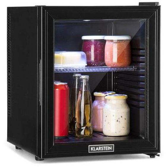 Klarstein Kühlschrank A LED Kunststoff-Einsatz Glastür schwarz »Brooklyn 32L«