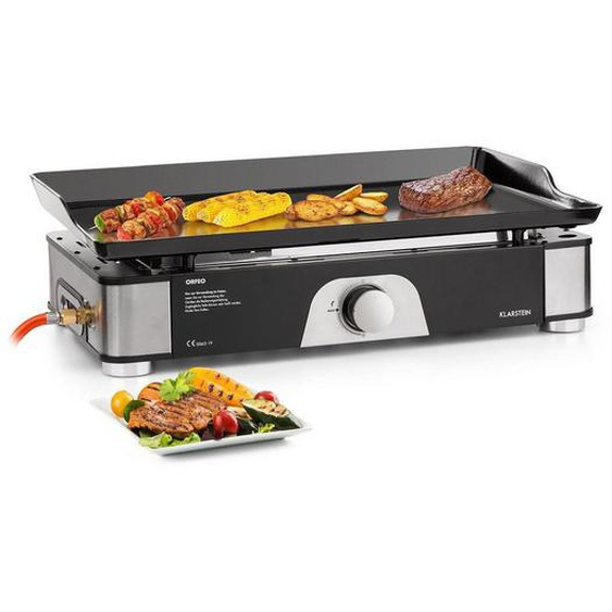 Klarstein Orfeo Gas-Tischgrill Plancha-Grill 3,5kW 350°C »Orfeo«