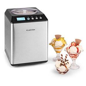Klarstein Vanilly Sky Family • Eismaschine • Eiscreme-Bereiter • Speiseeismaschine • Frozen Yoghurt • 250 Watt • 2,5 L Volumen • Kühlhaltefunktion • Display • Timer • Restarbeitszeitanzeige • silber